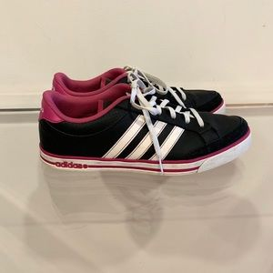 Adidas Pink Black and White Sneakers W 8.5